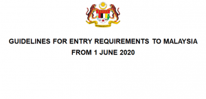 Guidelines For Entry Requirements To Malaysia From 1 June 2020 Eng V1 Malaysian Aviation Commission Mavcom